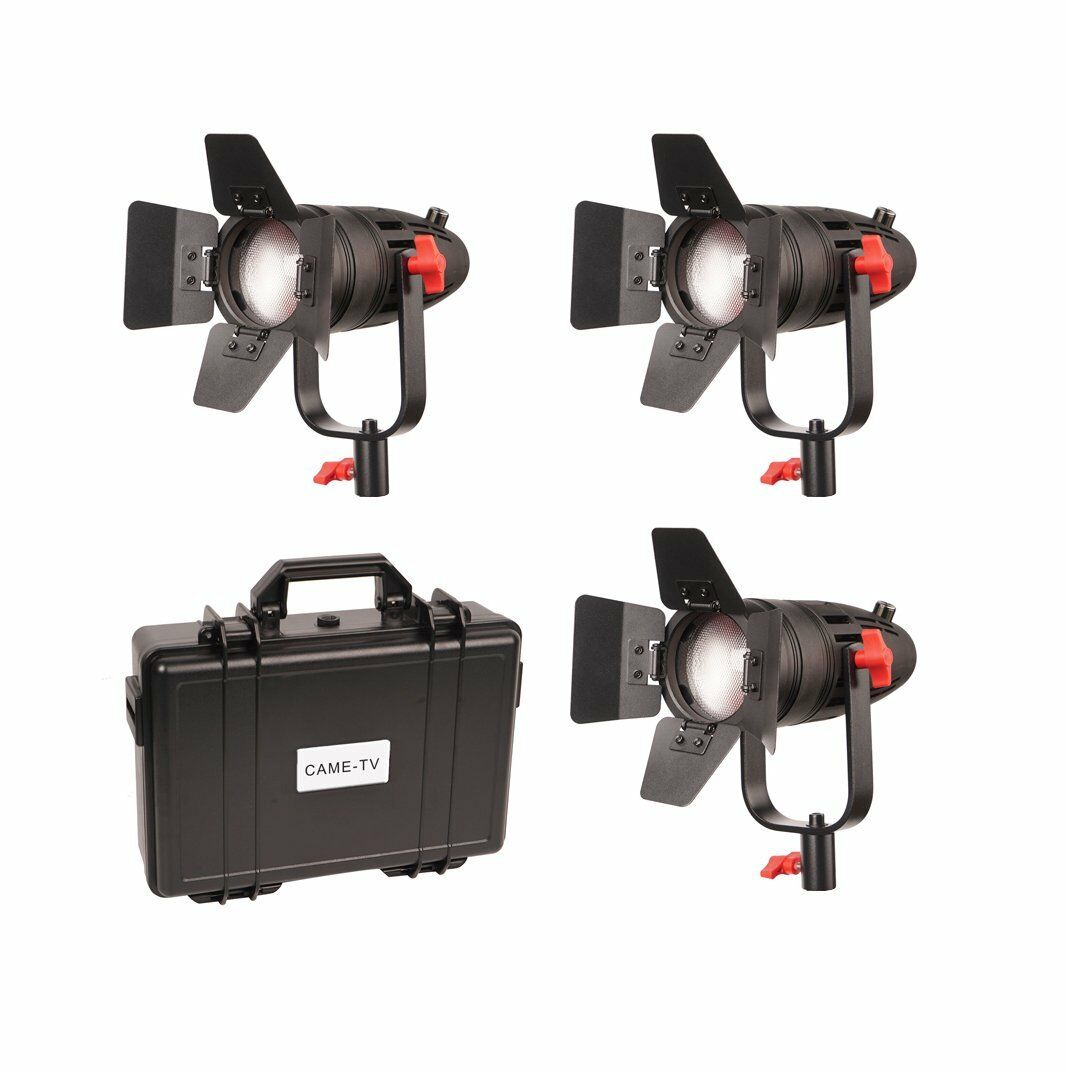 3 Pcs CAME-TV Boltzen 30w Fresnel Fanless Focusable Led Daylight