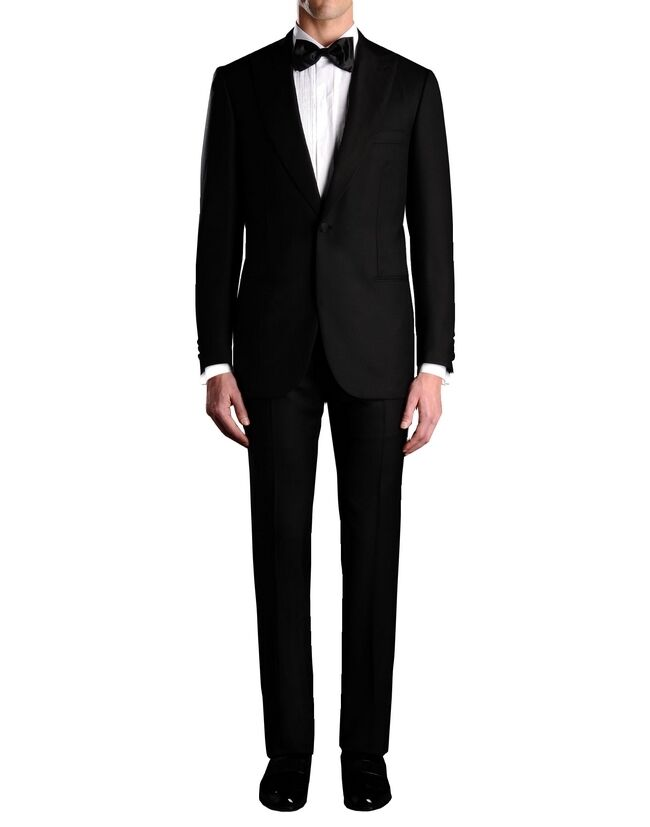 $6700 NEW BRIONI QUIRINALE 09K JAMES BOND 1 BUTTON TUXEDO TUX SUIT 46/48 L