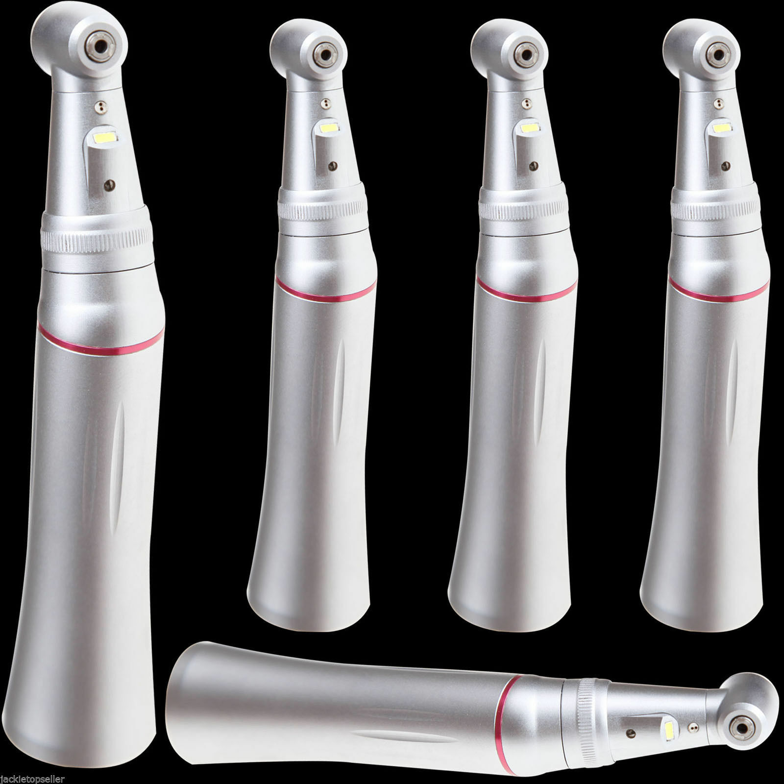 5* Dental 1:5 LED Fiber Optic Contra angle Handpiece Inner Spray Pipe Push JCRZ