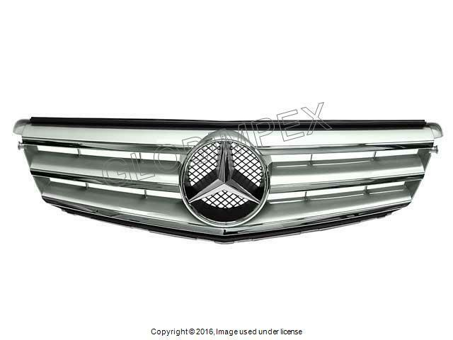 Mercedes C250 C300 C350 (2008-2014) Grille Assembly Brilliant Silver GENUINE