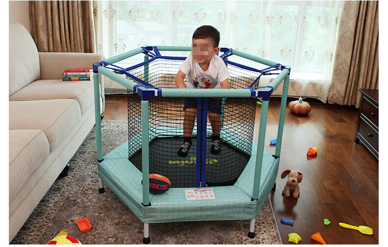 Blue Kids Children Indoor/Outdoor Play Toys Funny Safety Net Trampoline Gift..