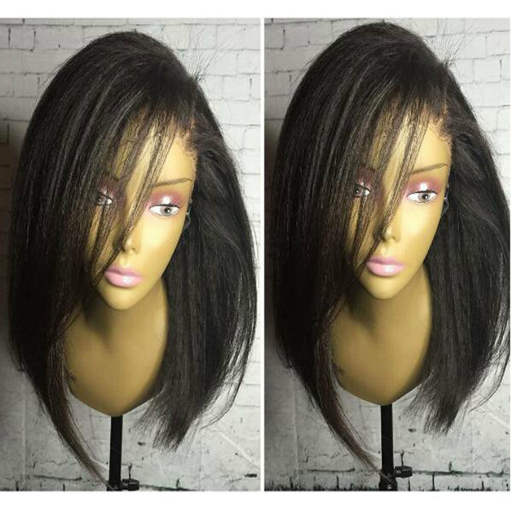 New Pre Plucked Glueless 360 Full Front Lace Wig Silk Base Peruvian Human Hair s