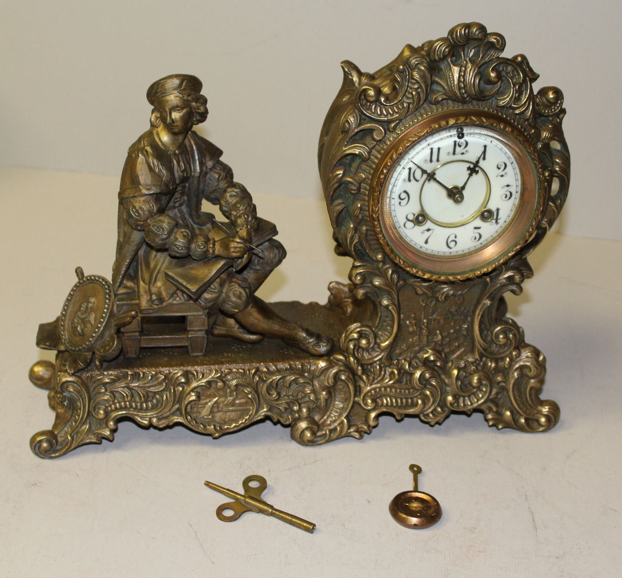 Antique Waterbury Clock Company â€