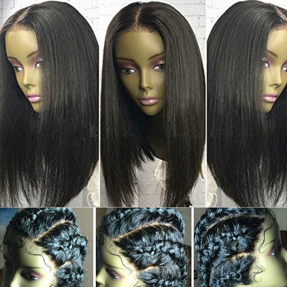 Indian Remy Human Hair Straight Wavy 360 Lace Front Wig Silk Top Full Lace Wig s