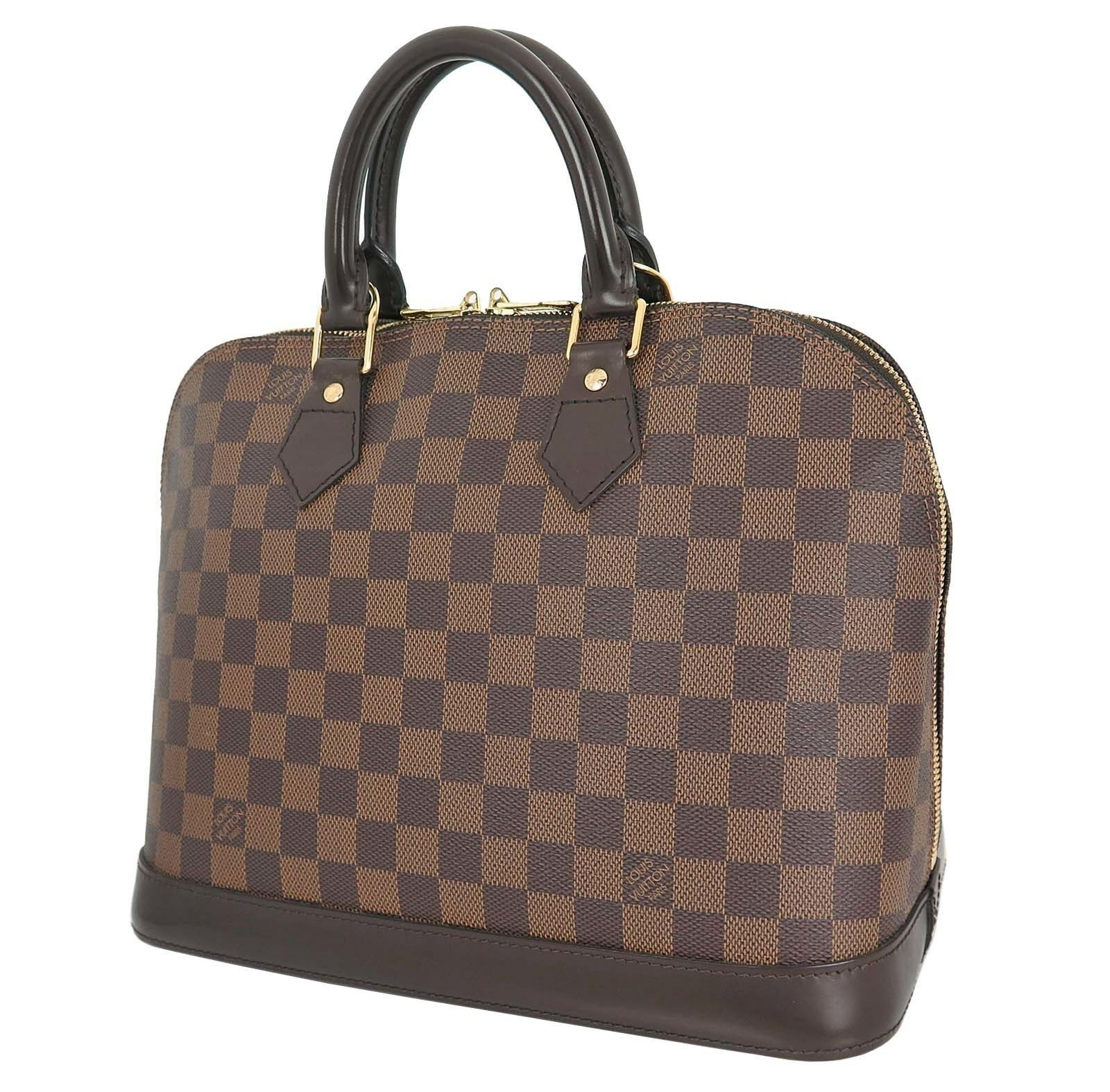 Authentic LOUIS VUITTON Alma Damier Ebene Tote Hand Bag Purse #18839