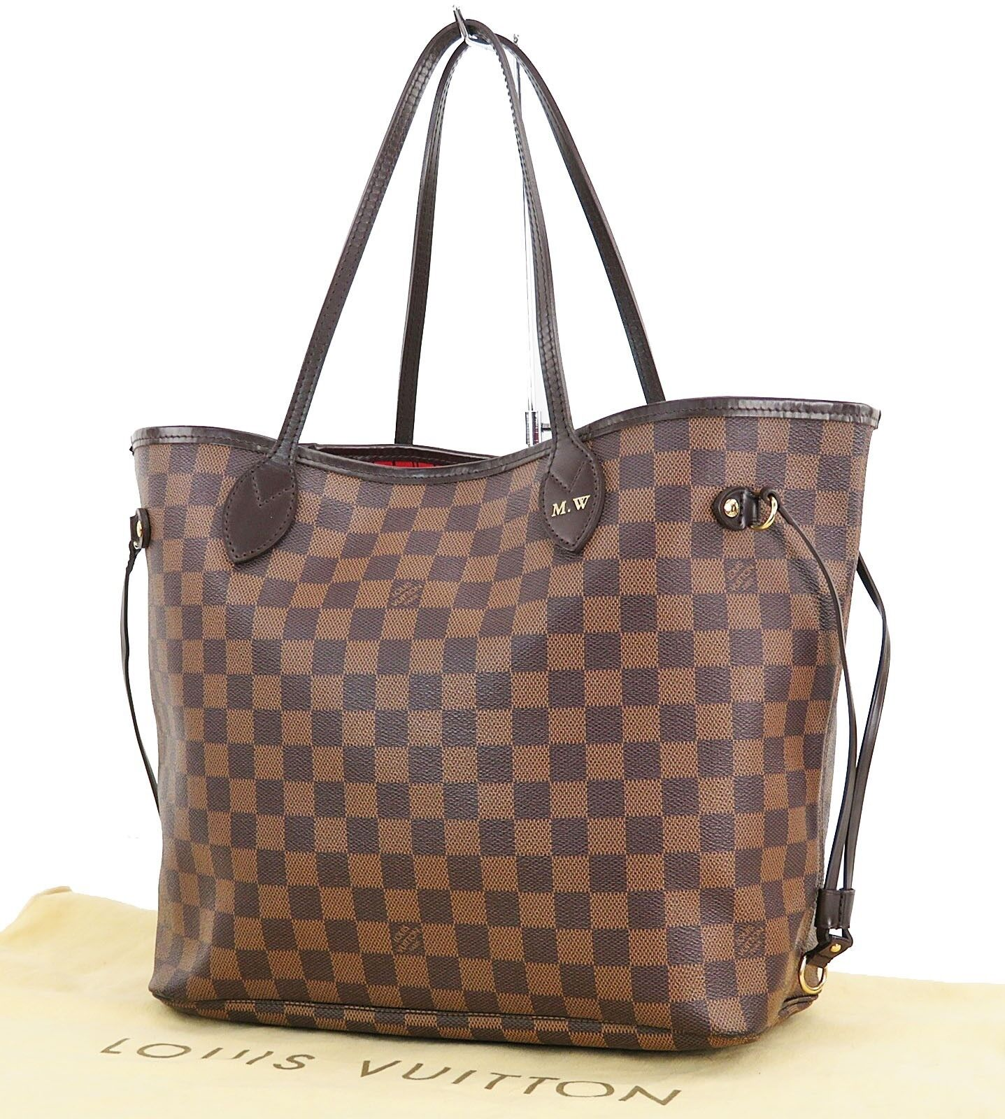 Authentic LOUIS VUITTON Neverfull MM Damier Ebene Tote Bag Purse #28456