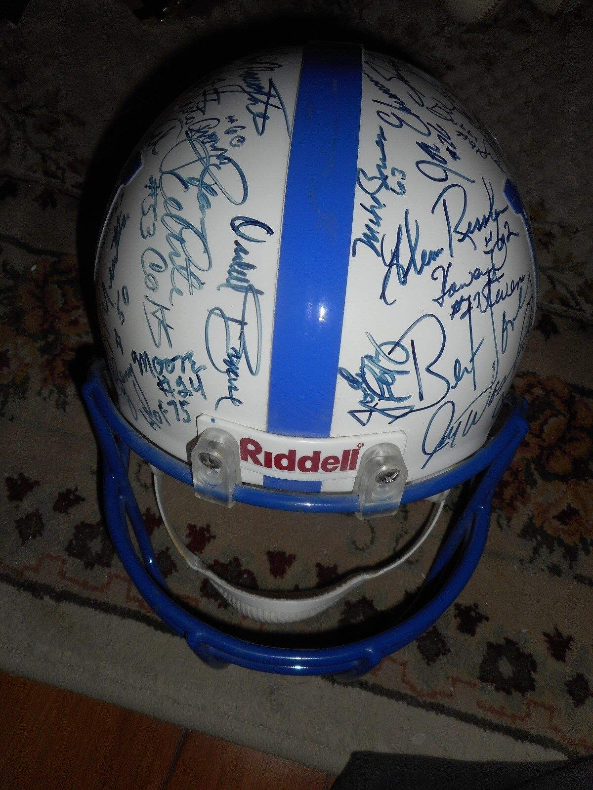 Multi Signed Baltimore Colts Full Size Helmet Football Autograph (51 Total) HOF