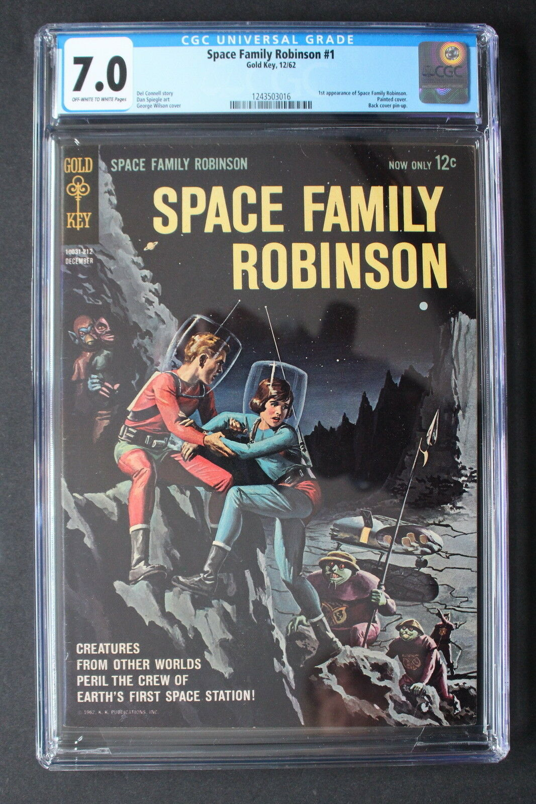 SPACE FAMILY ROBINSON #1 LOST IN SPACE 1962 Gold Key Netflix TV Reboot CGC 7.0