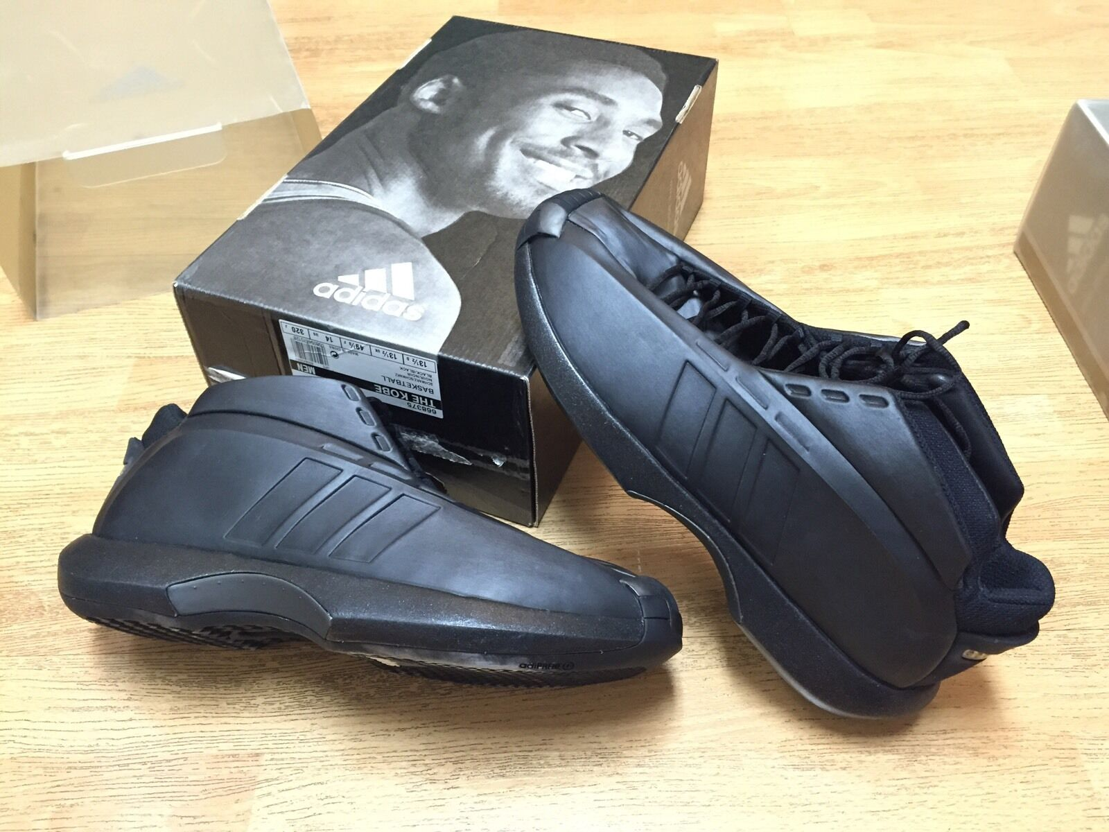 ADIDAS 2000 1ST SIGNATURE SHOES KOBE ACTUAL SZ 14 NBA FINALS NO PE LAKERS SHOES
