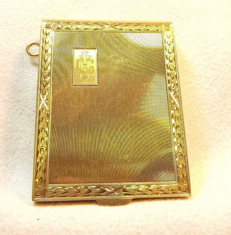 Beautifully Engraved 14k Matchbook Cover    ~ Could be for a Chatelaine ~