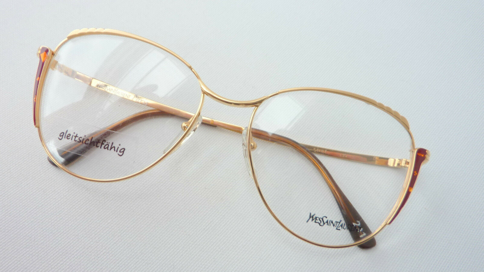 Yves St Laurent vintage glasses metal frame oversized 70s Depth Form Golden