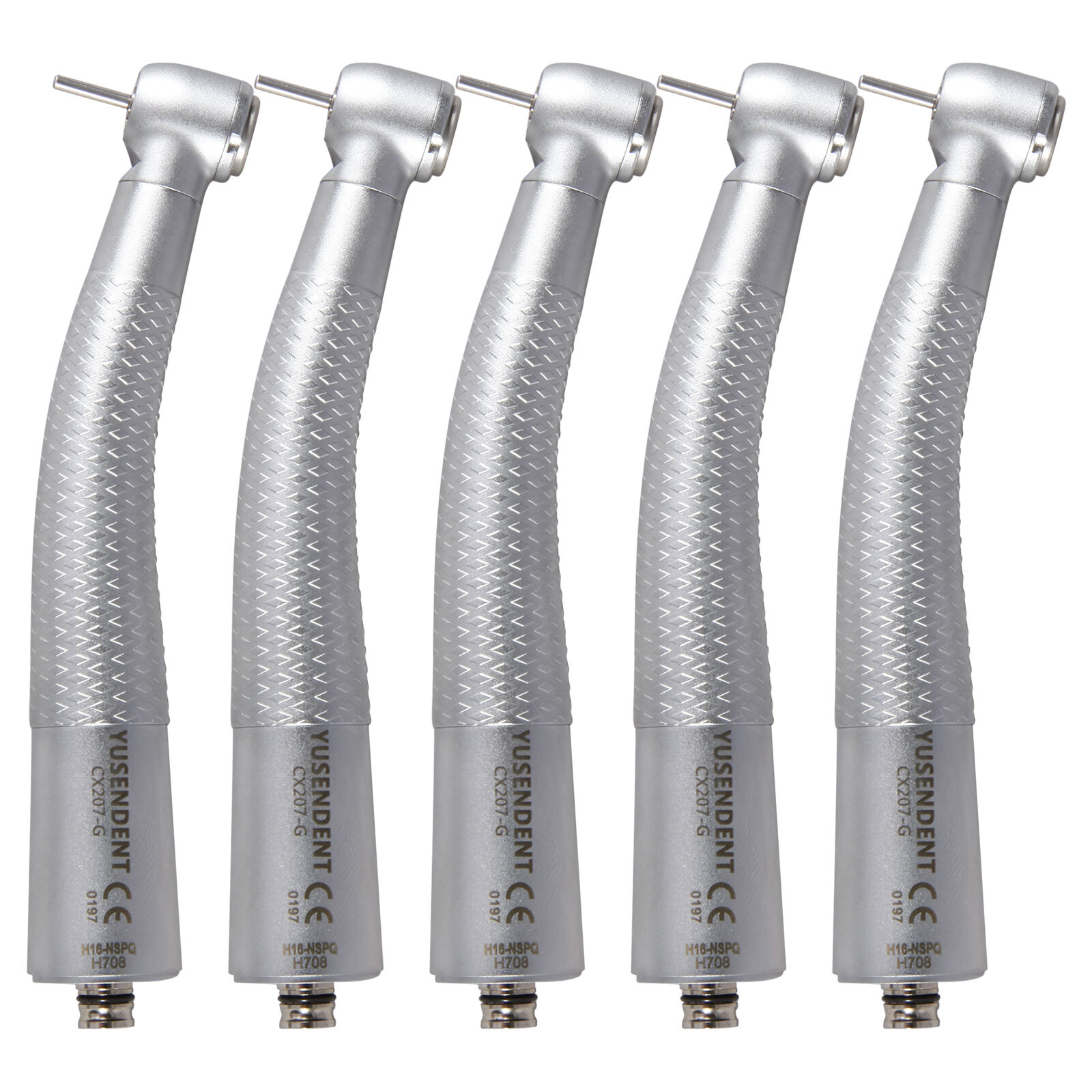 5X Dental Fiber Optic LED High Speed Handpiece Push fit NSK Quick Coupling oO*F