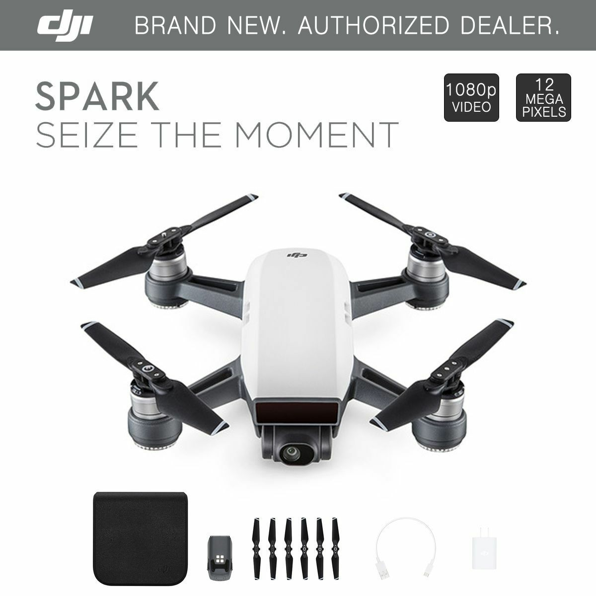 DJI Spark 2.4G Mini GPS RC Drone Fly More Combo Quadcopter 12MP HD 1080P Cameral