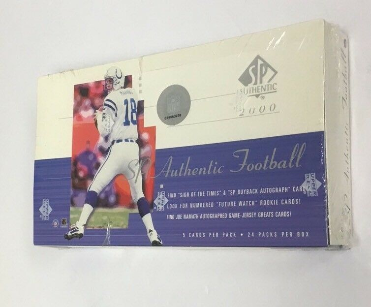 2000 SP AUTHENTIC FOOTBALL BOX POSSIBLE TOM BRADY PSA 10 FACTORY SEALED