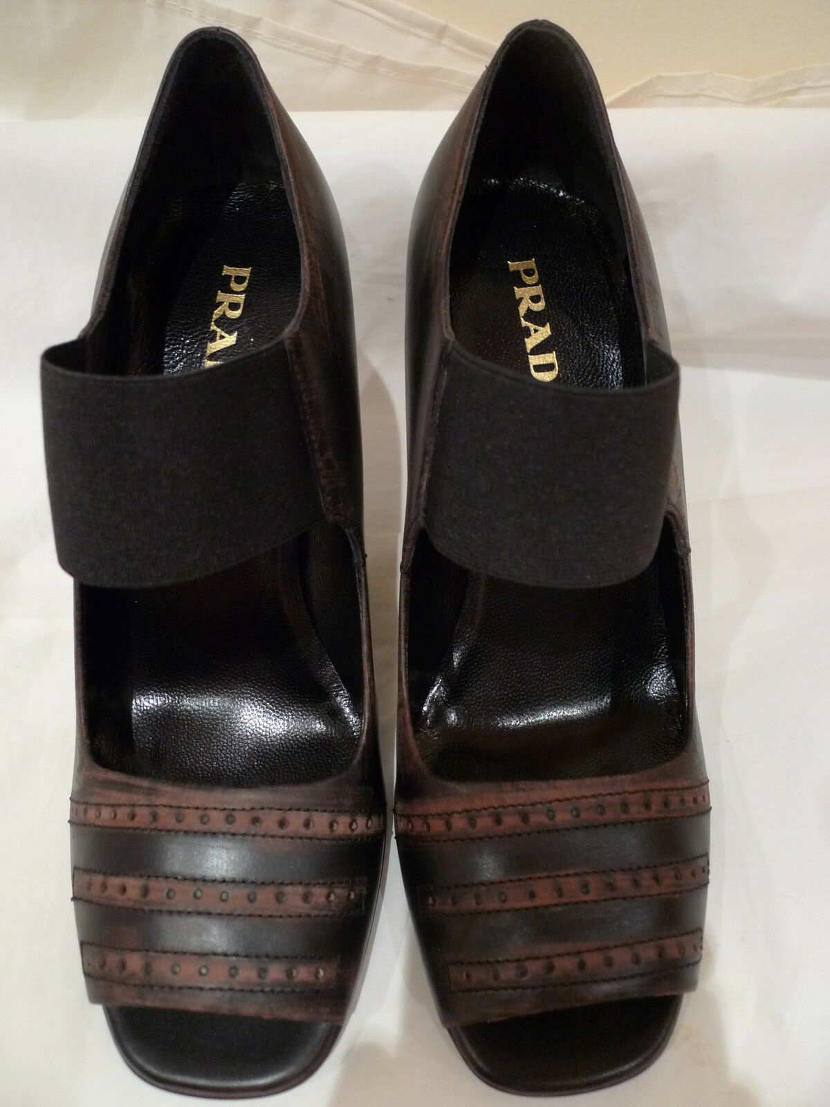 PRADA OPEN TOE SEXY SHOES AUTHENTIC  ITALY SIZE 37/7