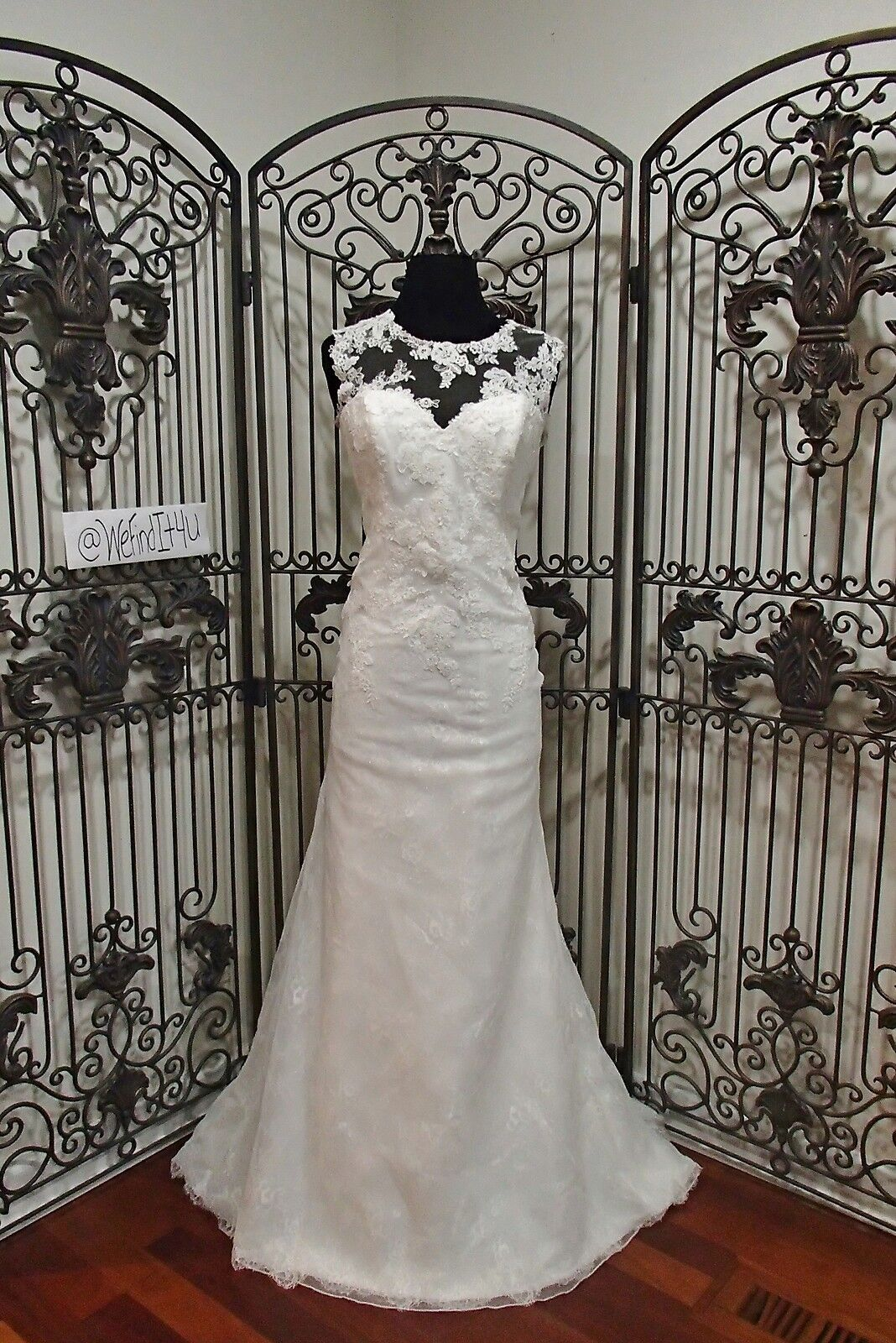 10 BEAUTIFUL ENZOANI BT16-15 SZ 10 IVORY   ILLUSION WEDDING GOWN DRESS NEW