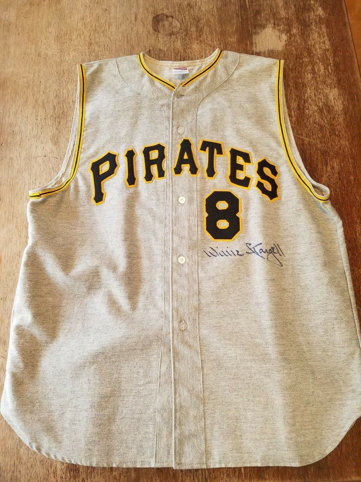 1971 Willie Stargell Pittsburgh Pirates Autographed Jersey Vest HOF COA DECEASED