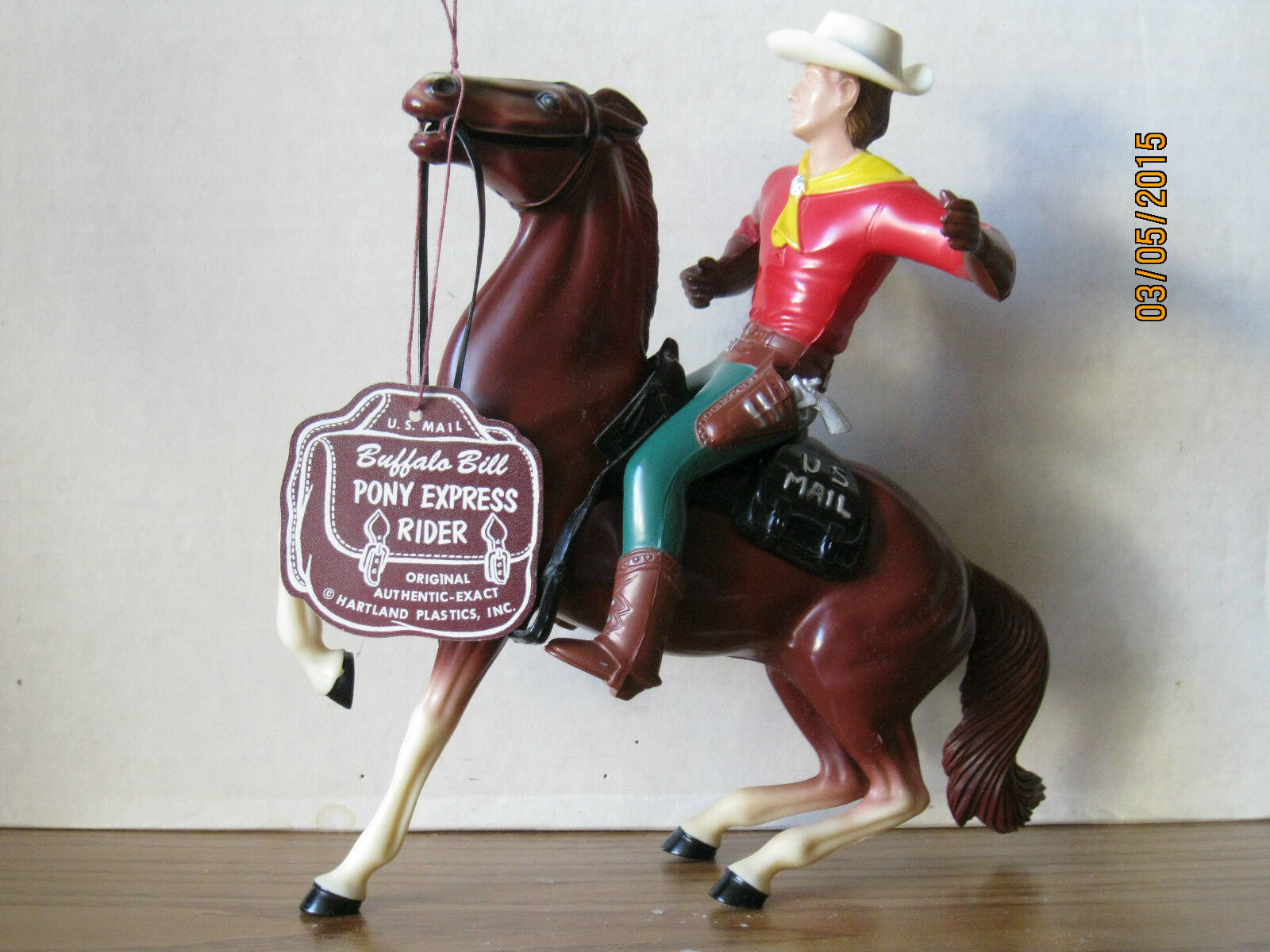 VINTAGE 1950's HARTLAND BUFFALO BILL w/ORIGINAL HANG TAG PONY EXPRESS!