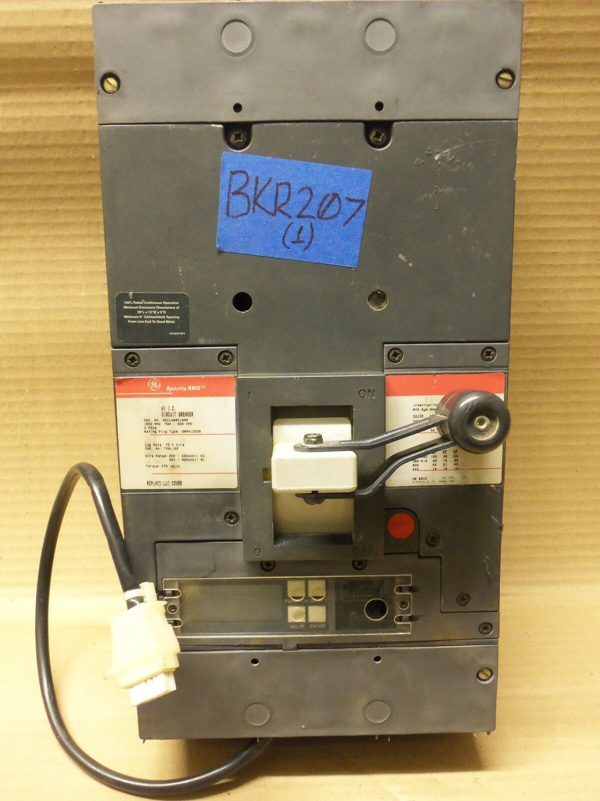 General Electric SKLL SKLL36BC1000 3 Pole 1000 Amp 600v Circuit Breaker LIG GFI