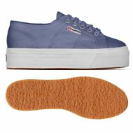 SUPERGA 2790 zeppa SCARPE DONNA 4cm acotw UP AND DOWN blue velvet prv/est X46icu