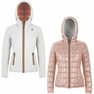 K-WAY Imbottita reverse giacca DONNA KWAY CAPPUCCIO LILY THERMO PLUS DOUBLE 976t
