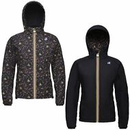K-WAY AUDE PADDED GRAPHIC DOUBLE GIACCA Ragazzi KWAY IMPERMEABILE Aut/inv 960dmx