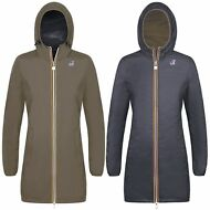 K-WAY GIACCA DONNA lunga 3/4 VIRGINIE PLUS DOUBLE IMPERMEABILE Prv/est KWAY 931f