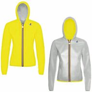 K-WAY GIACCA BAMBINA LILY PLUS DOUBLE FLUO IMPERMEABILE cappuccio New KWAY 905pd