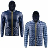 K-WAY Giacca PELLE/NYLON UOMO JACQUES KL AIR DOUBLE Cappuccio KWAY 918axcqlyw