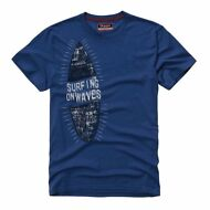 KAPPA SURFING ON WAVES AZEW spiaggia beach MAGLIETTA t-shirt UOMO mc.corta 868eg