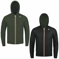K-WAY JACQUES PLUS DOUBLE reverse giacca UOMO CAPPUCCIO KWAY IMPERMEABILE 921npy