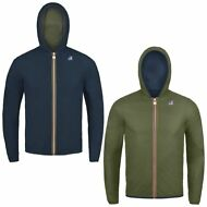 K-WAY JACQUES PLUS DOUBLE reverse giacca BAMBINO CAPPUCCIO KWAY IMPERMEABILE A16
