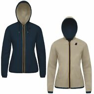 K-WAY reverse giacca DONNA CAPPUCCIO LILY KL AIR DOUBLE KWAY PELLE Prv/Est 981fh