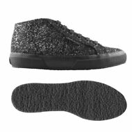 SUPERGA 2754 DONNA Alt.media Scarpe Aut/Inv GLITTER Nero chic NEW News 917sqlncu