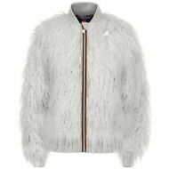 K-WAY giubbotto bomber DONNA ECO PELO Aut/Inv KWAY KATIE SHEEP Cold BUSTER W0Dlv