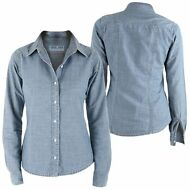 JESUS JEANS CAMICIA Donna 942 SS Toxic free chambray STONEWASH FORTE NEW 904wxfe