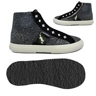 SUPERGA BAMBINA alt.media 2795 lame MICROPILE Scarpe aut/inv nero Chic New 999qj
