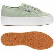 SUPERGA 2790 Zeppa SCARPE DONNA 4cm ACOTW UP AND DOWN verde PRV/EST Nuovo 936aeh