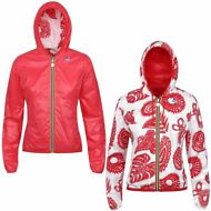 K-WAY LILY PLUS DOUBLE GRAPHIC giacca DONNA CAPPUCCIO Prv/est NEW KWAY 918digfla