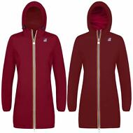 K-WAY Giacca lunga DONNA CAPPUCCIO KWAY reverse 3/4 VIRGINIE PLUS DOUBLE 970qczx