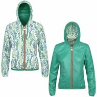 K-WAY reverse giacca BAMBINA CAPPUCCIO LILY PLUS DOUBLE GRAPHIC KWAY Prv/Est 921
