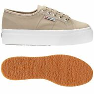 SUPERGA 2790 zeppa 4cm Scarpe DONNA Acotw up and down GRIGIO Prv/Est New 949pdmg