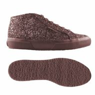 SUPERGA 2754 DONNA ALT.MEDIA Scarpe Aut/Inv glitter BORDEAUX chic New News 911gy