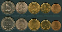 MYANMAR BURMA 5 COIN SET 1999 CHINZE LION 1 5 10 50 100 KYAT UNC  SET