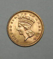 1888 G$1 GOLD DOLLAR TYPE 3 INDIAN HEAD AMAZING COIN AND CONDITION