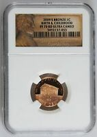 2009 S LINCOLN PROOF CENT NGC PF 70 UC BRONZE BIRTH CHILDHOOD BICENTENNIAL PENNY