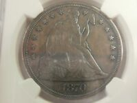1870 SEATED LIBERTY DOLLAR NGC PROOF DETAILS IMPROPERLY CLEANED