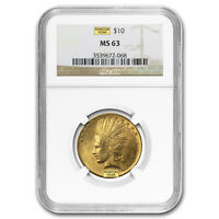 $10 INDIAN GOLD EAGLE MS 63 NGC  RANDOM    SKU 23201