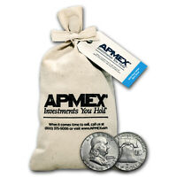 90  SILVER FRANKLIN HALF DOLLARS $100 FACE VALUE BAG AVG CIRC   SKU 5297