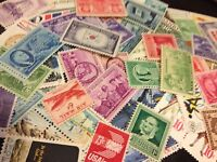 100 MNH ALL DIFFERENT VINTAGE US STAMPS FROM THE 30'S TO 80'S